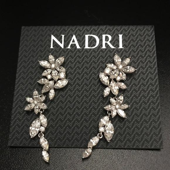 e48d3975f Nadri Jewelry | Nwot Floral Crystal Linear Drop Earrings | Poshmark